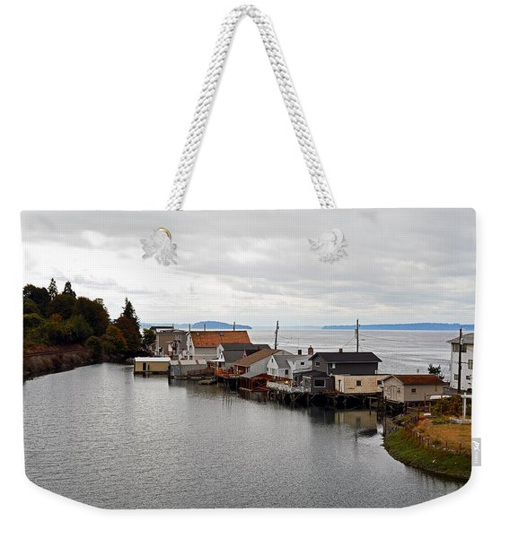 Day Island Bridge View 1 Weekender Tote Bag