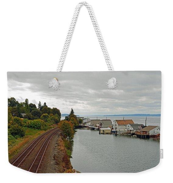 Day Island Bridge View 3 Weekender Tote Bag