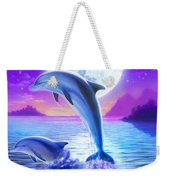 Day Of The Dolphin Weekender Tote Bag
