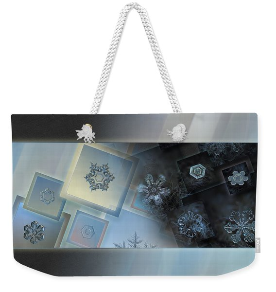 Snowflake Collage - Daybreak Weekender Tote Bag