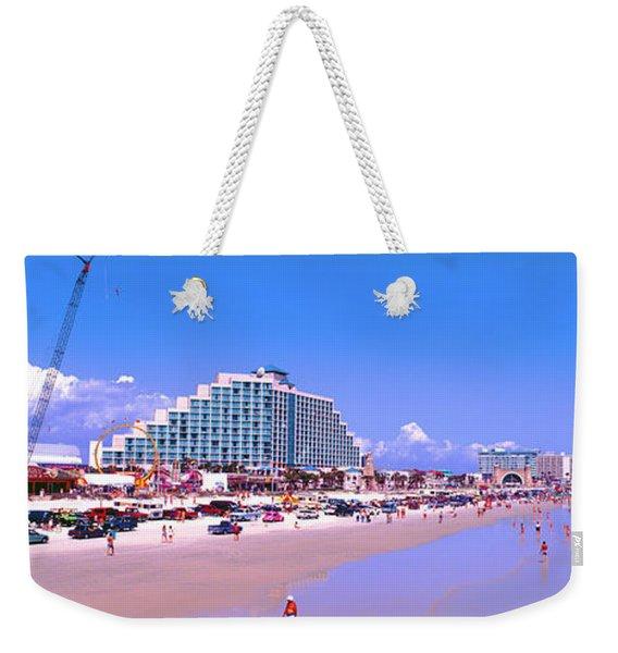 Daytona Main Street Pier And Beach  Weekender Tote Bag