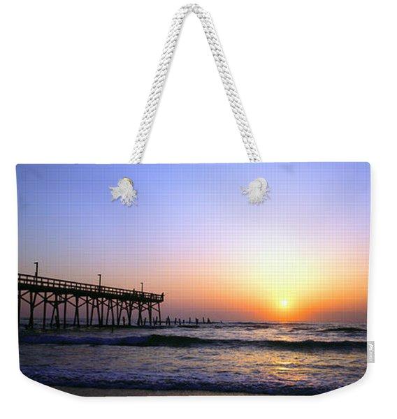 Daytona Sun Glow Pier  Weekender Tote Bag