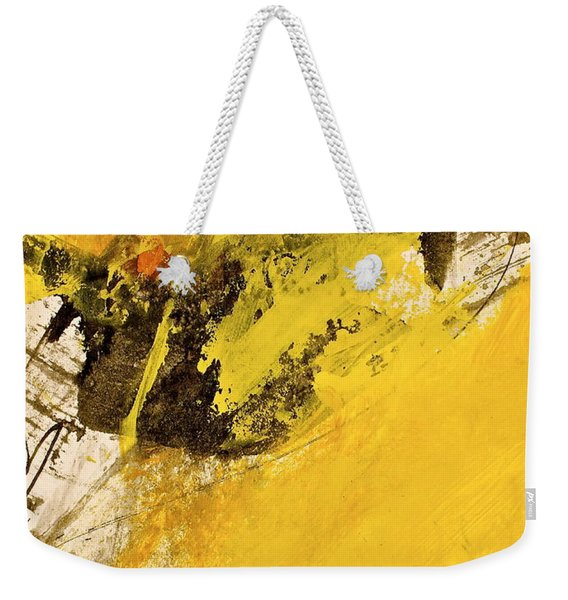Weekender Tote Bag featuring the painting Dazed Days Of Purple Haze by Cliff Spohn