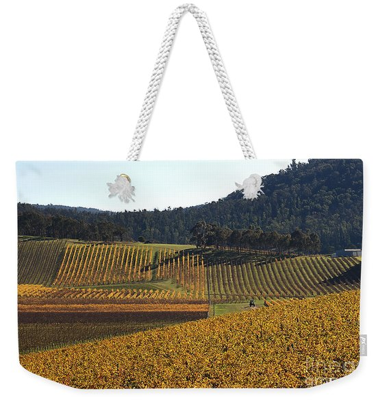 golden vines-Victoria-Australia Weekender Tote Bag