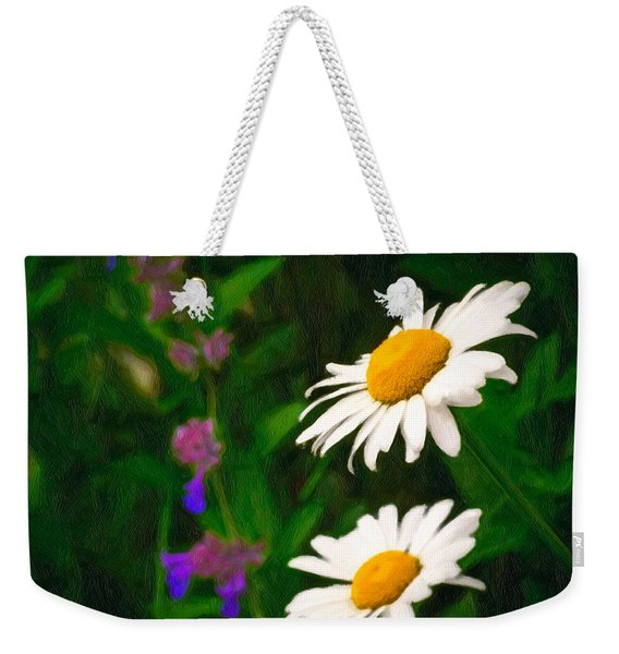 Weekender Tote Bag featuring the photograph Dear Daisy by Garvin Hunter