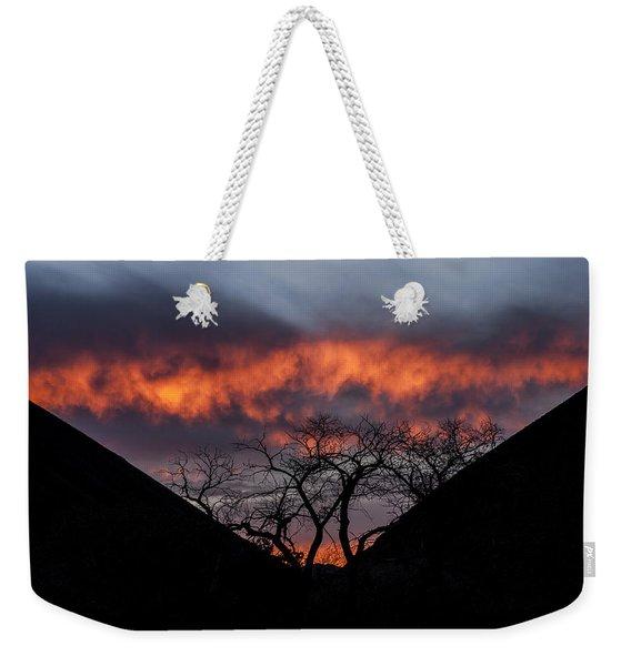 Death Valley Sunset Weekender Tote Bag