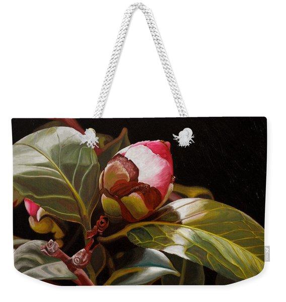 December Rose Weekender Tote Bag