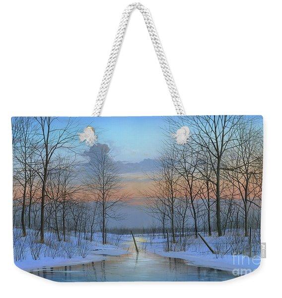 December Solitude Weekender Tote Bag