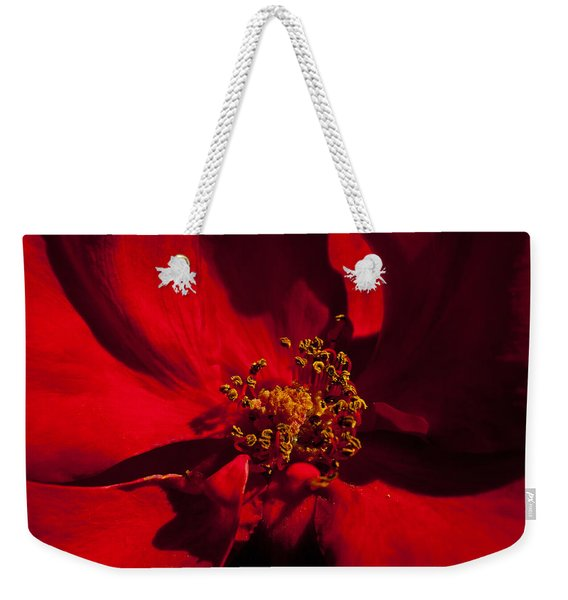 Deep Red Weekender Tote Bag