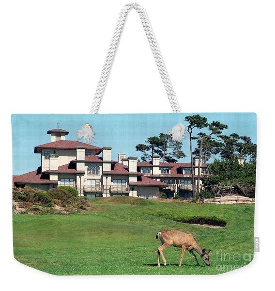 Deer At Spanish Bay Weekender Tote Bag