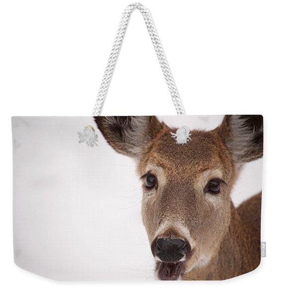 Deer Talk Weekender Tote Bag