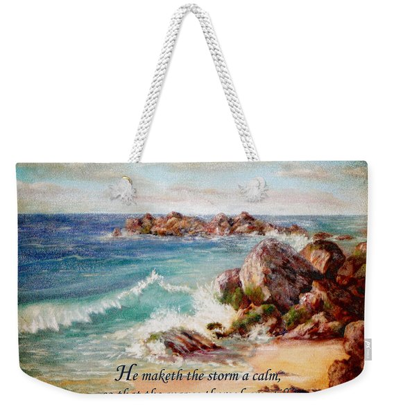 Deerfield Wave Psalm 107 Weekender Tote Bag