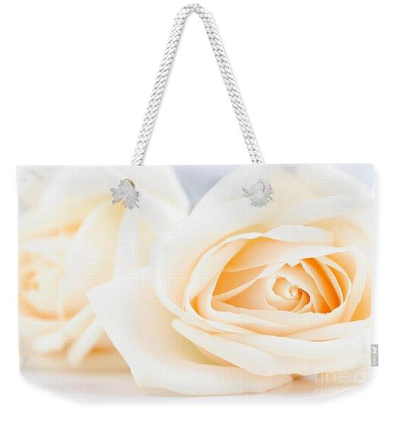 Delicate Beige Roses Weekender Tote Bag