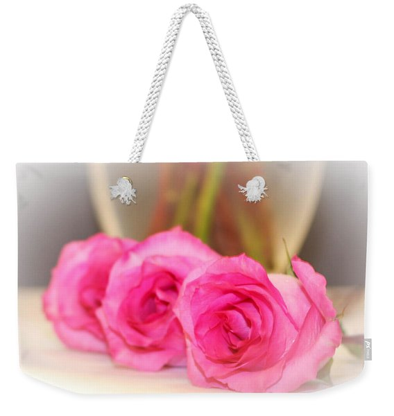 Delicate In Pink  Weekender Tote Bag