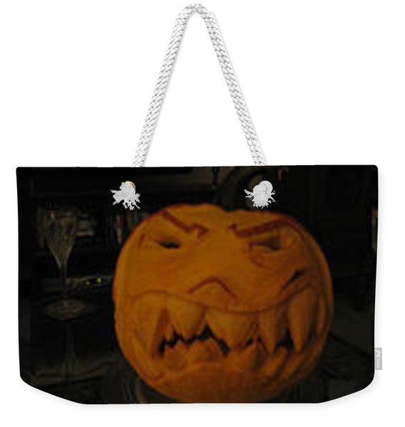Demented Mister Ullman Pumpkin 3 Weekender Tote Bag