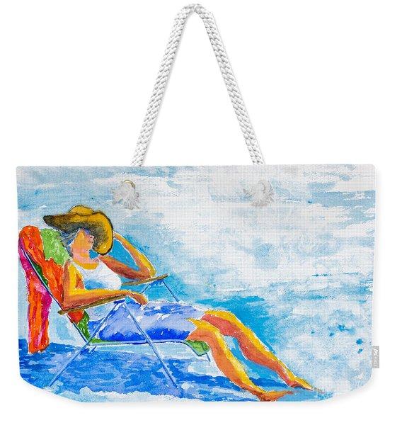 Dena At The Beach Weekender Tote Bag