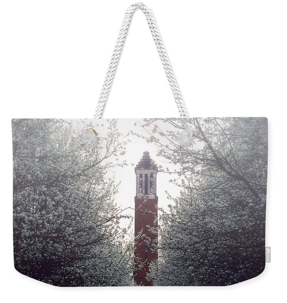 Denny Chimes Foggy Blossoms Weekender Tote Bag