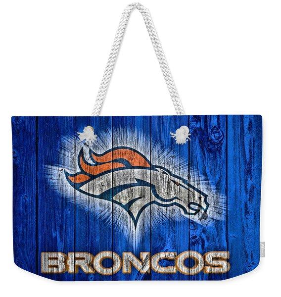 Denver Broncos Barn Door Weekender Tote Bag