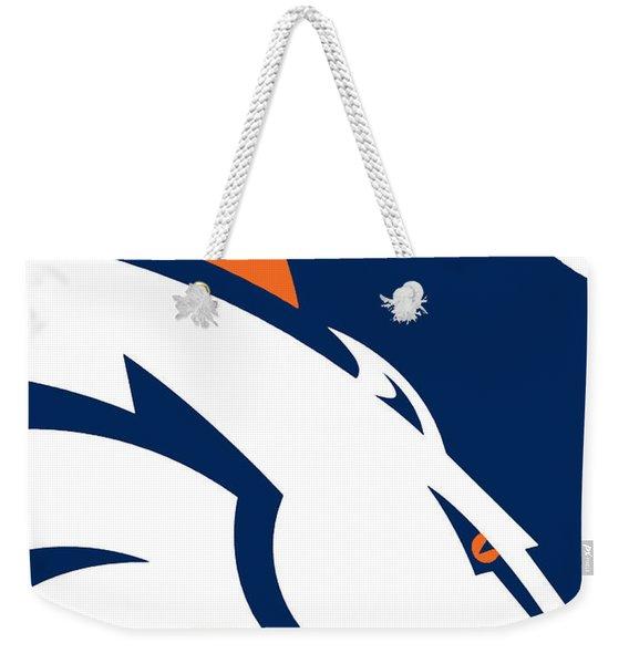 Denver Broncos Football Weekender Tote Bag