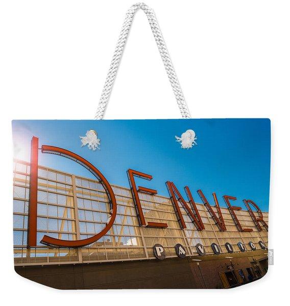 Denver Co Sign Weekender Tote Bag