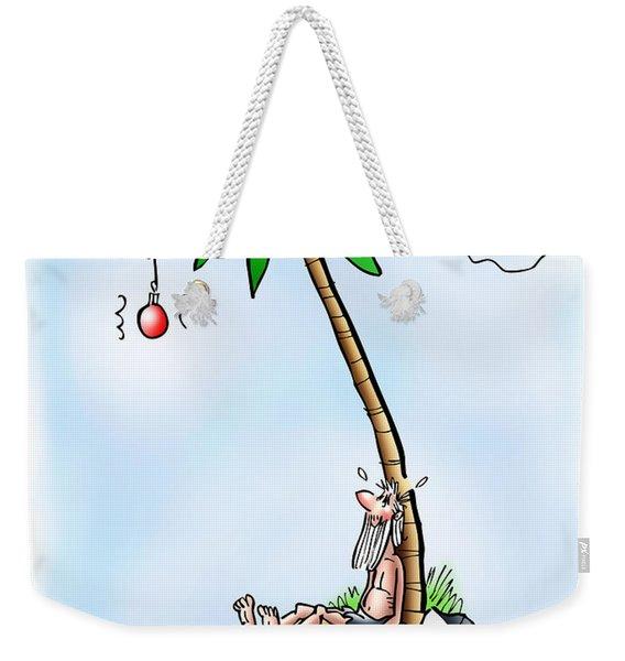 Desert Island Christmas Weekender Tote Bag