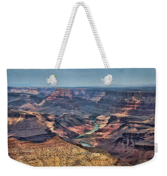Weekender Tote Bag featuring the photograph Desert View by Jemmy Archer
