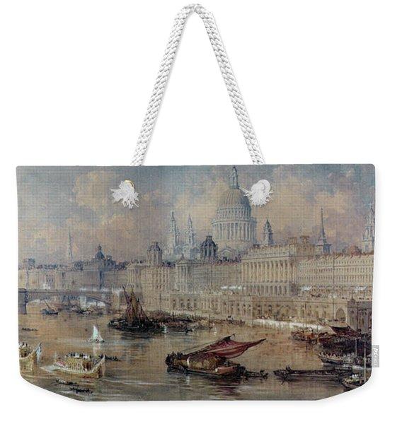 Design For The Thames Embankment Weekender Tote Bag