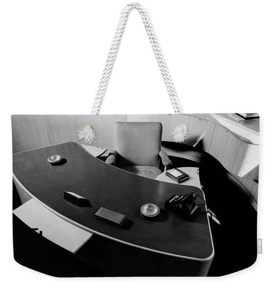 Desk By Industrial Designer Alexander Girard Weekender Tote Bag