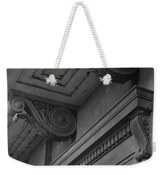 Detail Of Exterior Molding At A Plantation Home Weekender Tote Bag