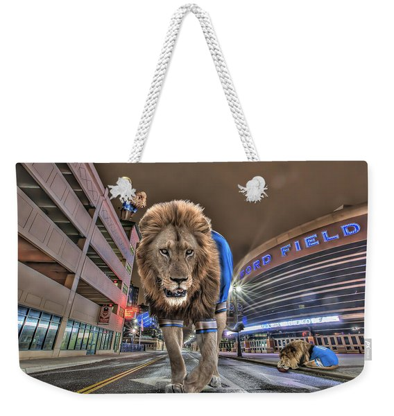 Detroit Lions At Ford Field Weekender Tote Bag