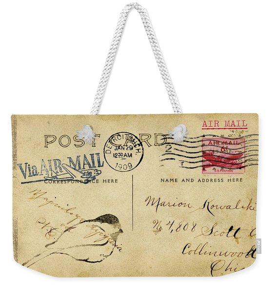 Detroit Sketch 1909 Weekender Tote Bag