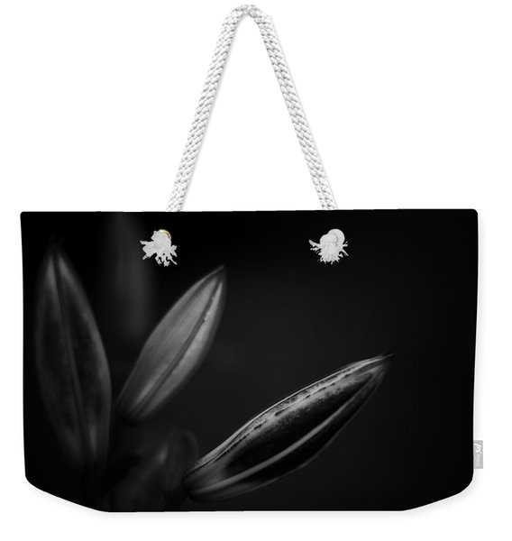 Developing Day Lily Depth In Monochrome Weekender Tote Bag