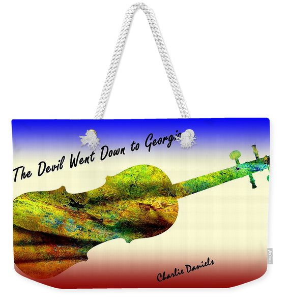 Devil Went Down To Georgia Daniels Fiddle  Weekender Tote Bag