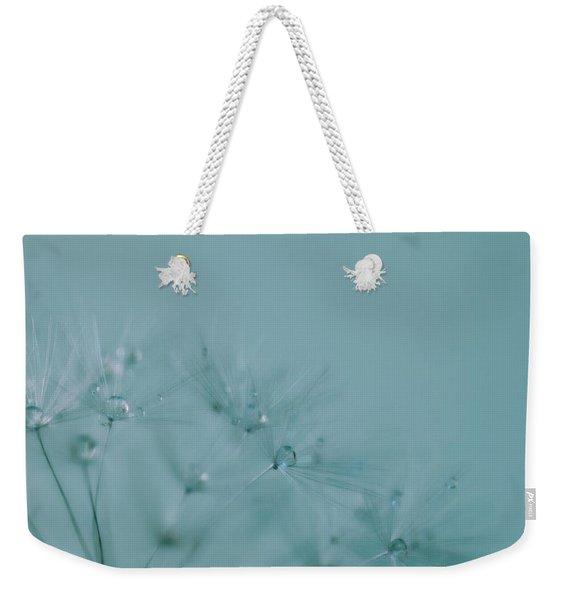 Dew Drops On Dandelion Seeds Weekender Tote Bag