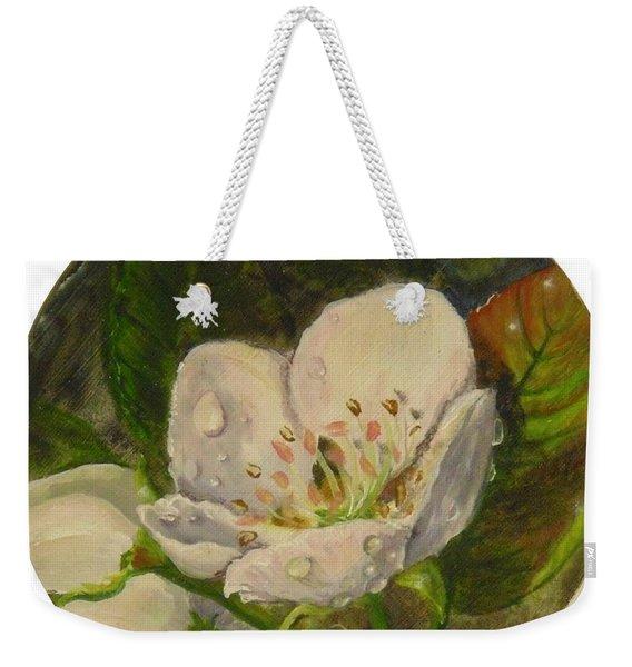 Dew Of Pear's Blooms Weekender Tote Bag