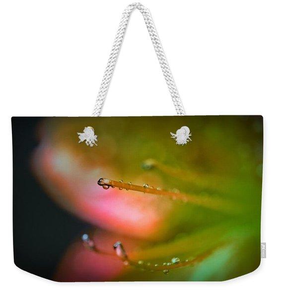 Dew On Azalea Flower Weekender Tote Bag