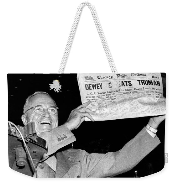 Dewey Defeats Truman Newspaper Weekender Tote Bag