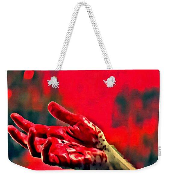 Dexter Bloody Hand Weekender Tote Bag