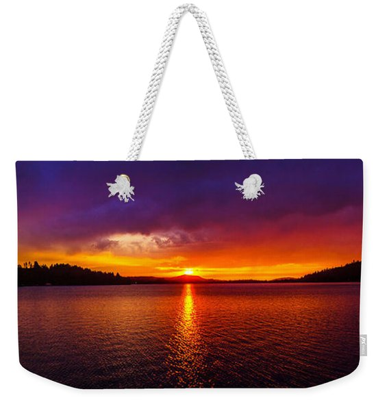 Dexter Lake Oregon Sunset 2 Weekender Tote Bag