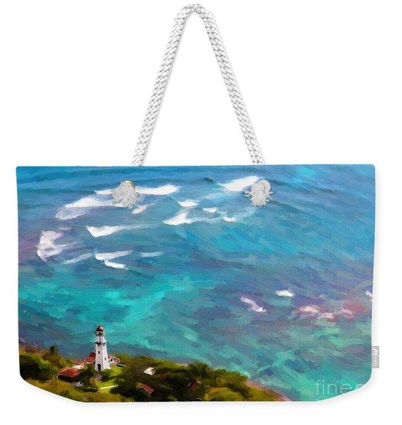 Diamond Head Lighthouse View Weekender Tote Bag