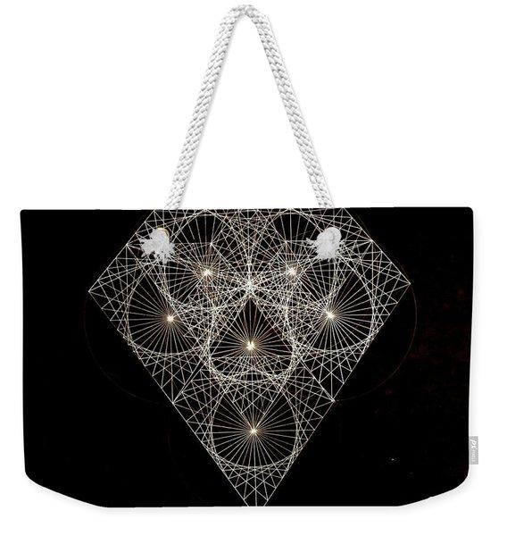 Diamond White And Black Weekender Tote Bag