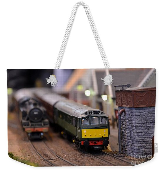 Diesel Electric Model Train Railway Engine Weekender Tote Bag