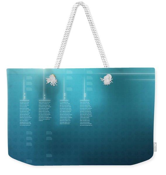 Digital Display  Weekender Tote Bag
