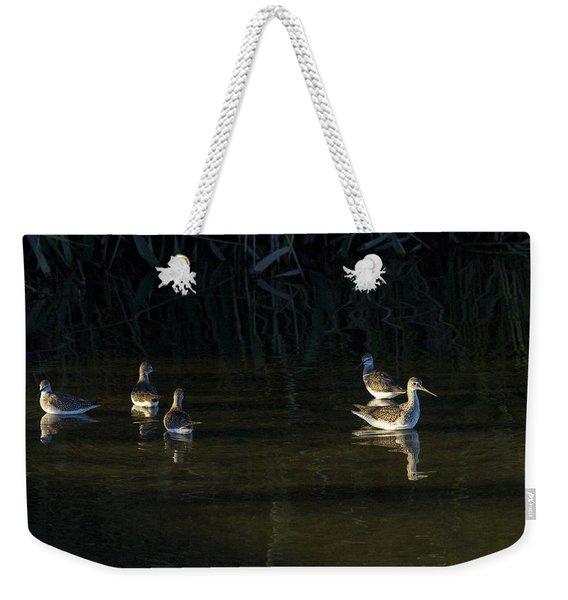 Digital Oil Of Sandpipers Weekender Tote Bag