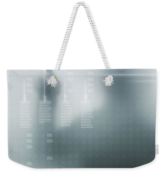 Digital User Interface Weekender Tote Bag