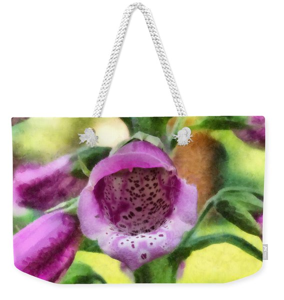 Digitalis Purpurea Weekender Tote Bag