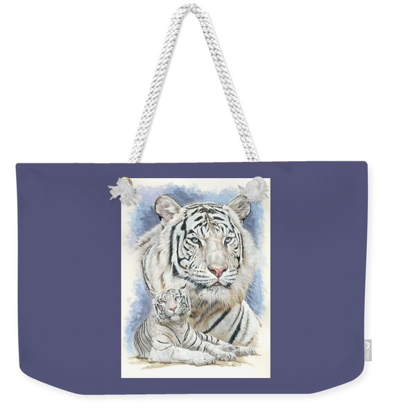 Weekender Tote Bag featuring the mixed media Dignity by Barbara Keith