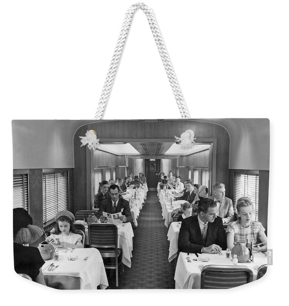 Diners In Railroad Dining Car Weekender Tote Bag