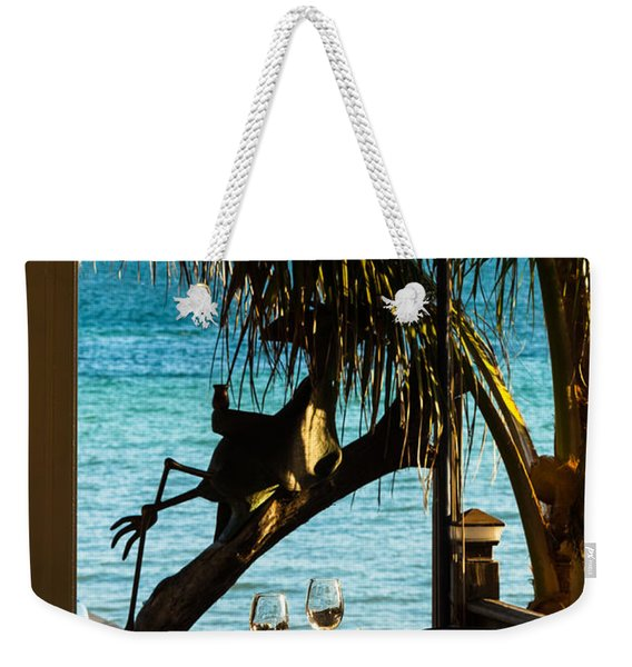 Dining For Two At Louie's Backyard Weekender Tote Bag