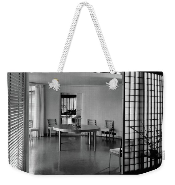 Dining Room In Mr. And Mrs. Alfred J. Bromfield Weekender Tote Bag